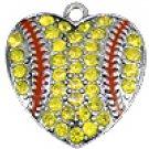 SWW1519SC - CRYSTAL SOFTBALL HEART