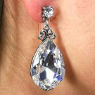 SWW19016E - VINTAGE STYLE GENUINE  AUSTRIAN CRYSTAL TEAR DROP SHAPED EARRINGS