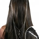 SWW19013HJ - CLEAR GENUINE AUSTRIAN  CRYSTAL BOBBY PINS AND  HAIR CHAIN