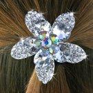 SWW14229HJ - BEAUTIFUL AUSTRIAN CRYSTAL FLOWER PONYTAIL HOLDER HAIR JEWELRY