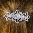 SWW9969HJ - GENUINE AUSTRIAN CRYSTAL FLOWER HAIR CLIP