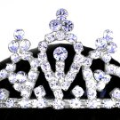 "SWW12687T - GENUINE AUSTRIAN CRYSTAL ""PRINCESS"" TIARA  HAIR COMB"