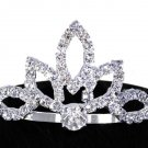 "SWW11553T - GENUINE AUSTRIAN CRYSTAL ""FLOWER PETAL"" TIARA HAIR COMB"