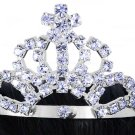 SWW16496T - GENUINE AUSTRIAN CRYSTAL STAR-TIPPED PRINCESS MINIATURE TIARA COMB