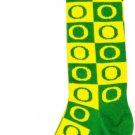 SZ One Size NCAA Oregon Ducks Checkerboard Pattern Dress Socks - SWAZC