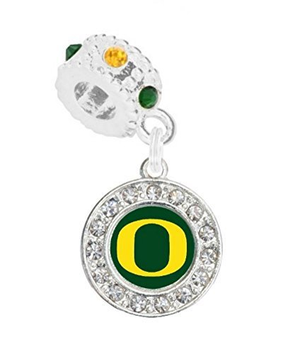 University of Oregon Charm w/Connector Will Fit Pandora, Troll, Biagi & More. - SWAZC