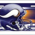 Minnesota Vikings Logo and Helmet Aluminum License Plate - SWEBMVLP5