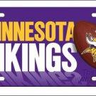Minnesota Vikings Logo and Helmet Aluminum License Plate - SWEBMVLP6