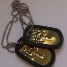 Real Debossed Brass Military Dog Tags Dogtags Made Just For You