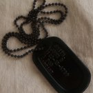 Real  Standard Black Military Issue GI Dog Tag Dogtag Made Just For U
