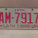 1975 North Carolina Random Number Truck License Plate NC