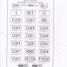 1964 North Carolina NC License Plate Tags Blotter Copy