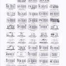 1983 North Carolina NC License Plate Tags Blotter Copy