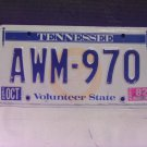 1982 Tennessee TN Seal Base License Plate Tag #AWM970 YOM