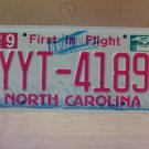 2010 North Carolina Mint Unissued License Plate NC YYT-4189