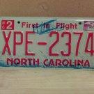2009 North Carolina NC License Plate Tag XPE-2374