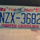 2002 North Carolina NC License Plate Tag #NZX-3682 - EX-N