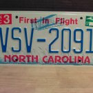 2007 North Carolina NC License Plate Tag #VSV-2091 Mint Stickered