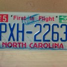 2003 North Carolina Mint License Plate NC #PXH-2263 With Registration