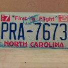 2002 North Carolina NC License Plate Tag #PRA-7673 EX-N