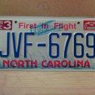1997 North Carolina Mint License Plate NC #JVF-6769 With Registration