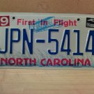 1996 North Carolina EX License Plate NC #JPN-5414 With Registration