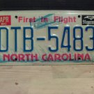 1991 North Carolina VG License Plate NC #DTB-5483