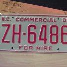 2005 North Carolina Premium License Plate NC ZH-6486 Mint Unissued Key Date