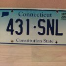 2005 Connecticut CT Fade Base License Plate Tag #431-SNL