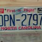 1991 North Carolina  License Plate Tag NC DPN-2797