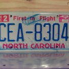 2015 North Carolina License Plate Tag NC #CEA-8304
