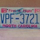 2006 North Carolina NC License Plate Tag VPF-3721 EX-N