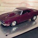 1969 Chevrolet Camaro Z/28 1:24 Scale Model in Burgundy Metallic