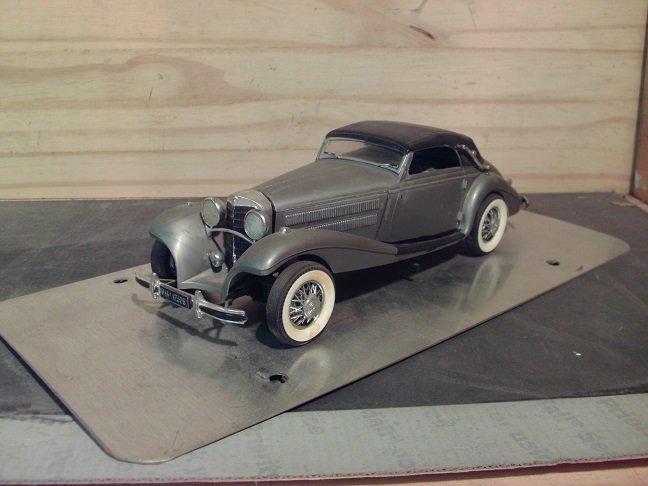 1929 Mercedes-Benz 540K Kompressor 1/24 Scale Model in Silver