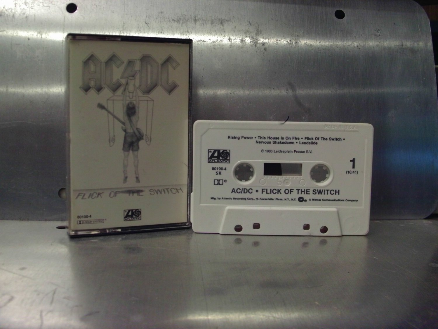 AC/DC - Flick Of The Switch Cassette Tape A1-5