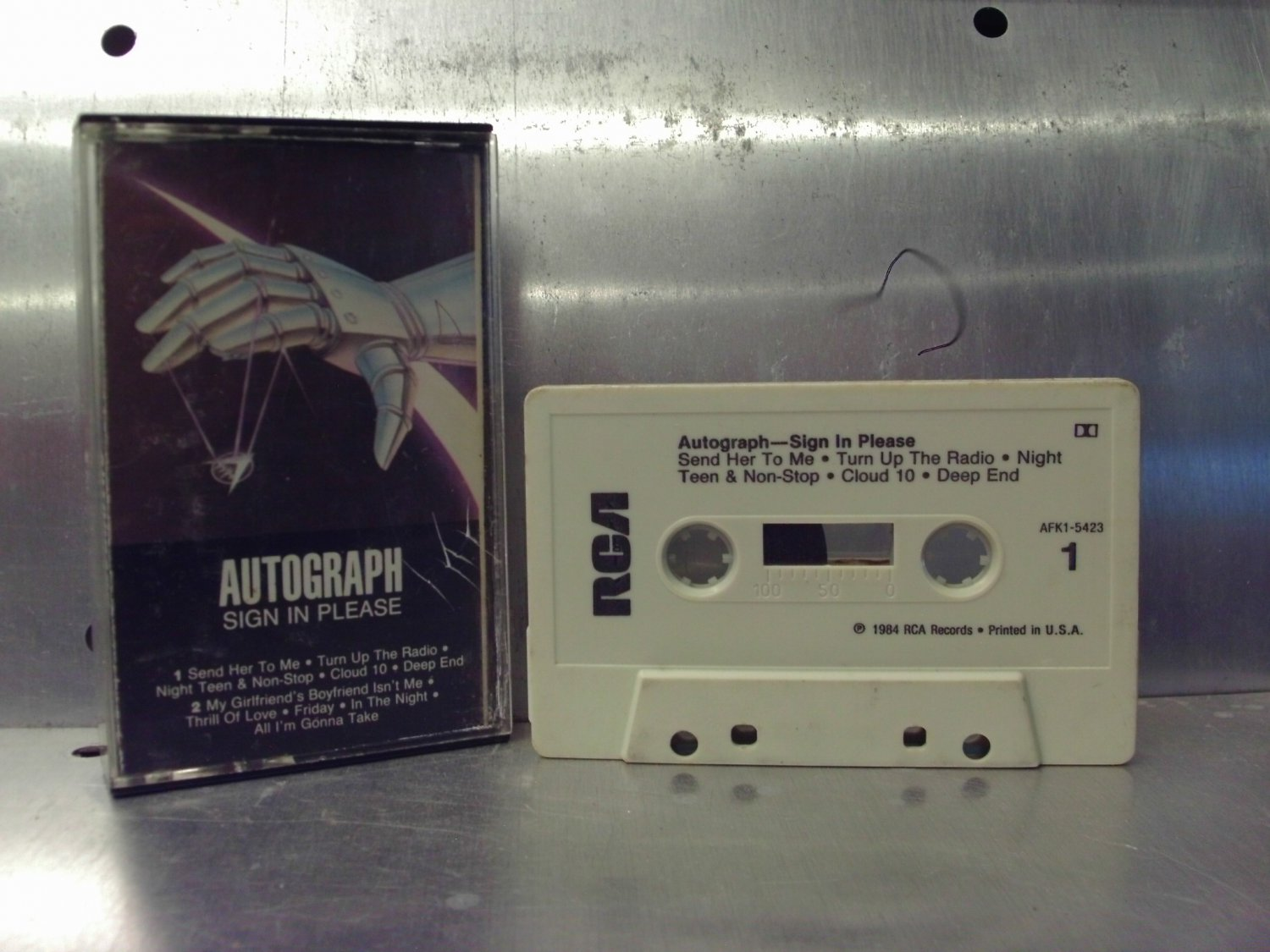 Autograph - Sign In Please (Re-release) Cassette Tape A1-17