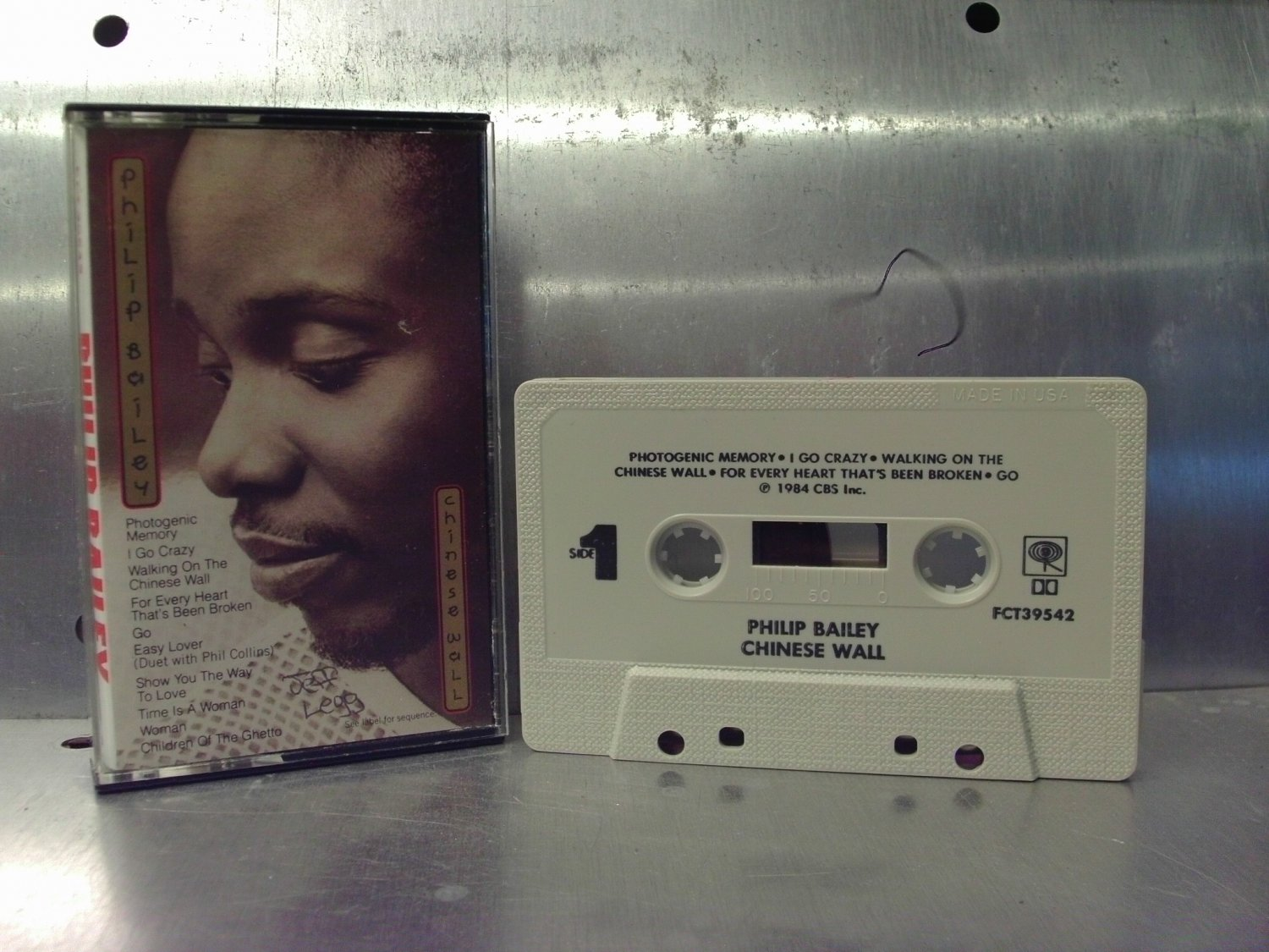 Philip Bailey - Chinese Wall Cassette Tape A1-24
