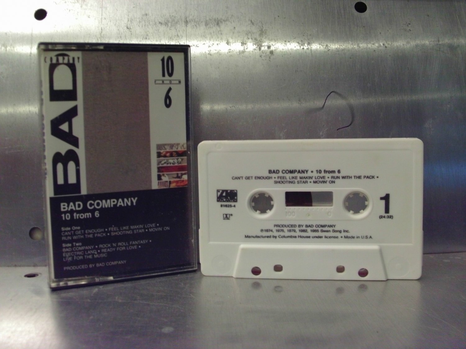Bad Company - 10 From 6 Cassette Tape A1-18