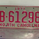 1977 North Carolina NC YOM Trailer / Camper License Plate B-61298 Mint