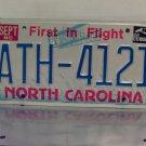 1986 North Carolina EX First in Flight License Plate NC #ATH-4121
