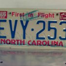 1987 North Carolina First in Flight License Plate NC #EVY-253
