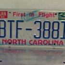 1988 North Carolina First in Flight License Plate NC #BTF-3881