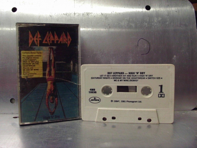 Def Leppard - High 'N Dry Cassette Tape A1-72