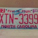 2009 North Carolina NC License Plate Tag #XTN-3399 EX-N