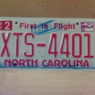 2009 North Carolina NC License Plate Tag #XTS-4401 Mint Stickered