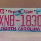 2008 North Carolina NC Red Letter License Plate Tag XNB-1830 EX-N
