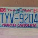2006 North Carolina NC License Plate Tag TYV-9204 EX-N