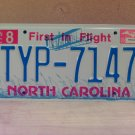 2006 North Carolina NC License Plate Tag TYP-7147 EX-N