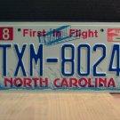 2006 North Carolina NC License Plate Tag TXM-8024 EX-N