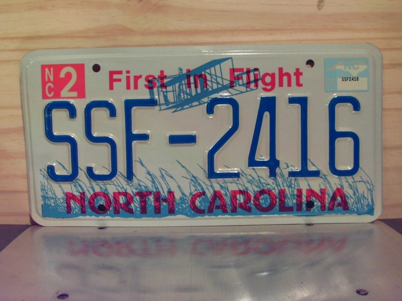 2005 North Carolina NC License Plate Tag #SSF-2416 EX